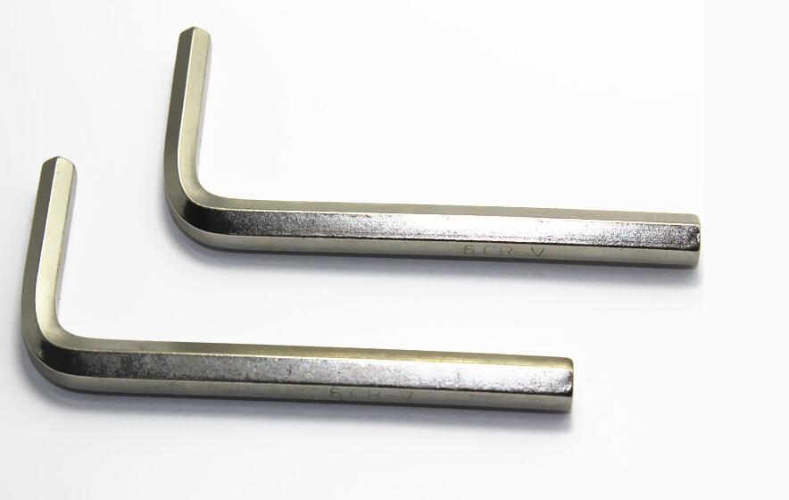 10 шт. Никель покрытие внутренней шестигранный ключ L ключ 1.5/2/2.5/3/4/5 мм