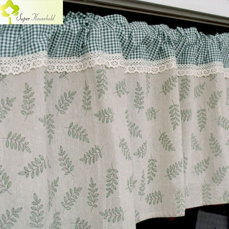 modern valance cotton linen short curtains for kitchen window door curtains roman blinds half. Black Bedroom Furniture Sets. Home Design Ideas