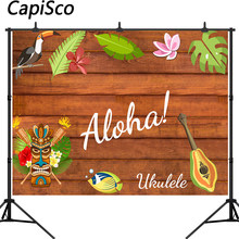 Capisco photography background Aloha tiki mask luau party tropical backdrop photo studio photobooth shoot prop(China)