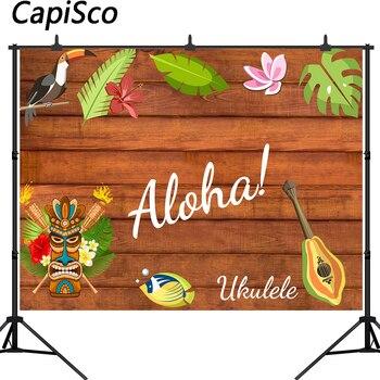 Fondo de fotografía Capisco Aloha tiki máscara luau fiesta tropical telón de fondo cabina de estudio fotográfico shoot prop