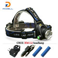 Zoom Powerful t6 led head lamp led rechargeable flashligh 18650 Car Charger Mountaineering camping daily work headlamp