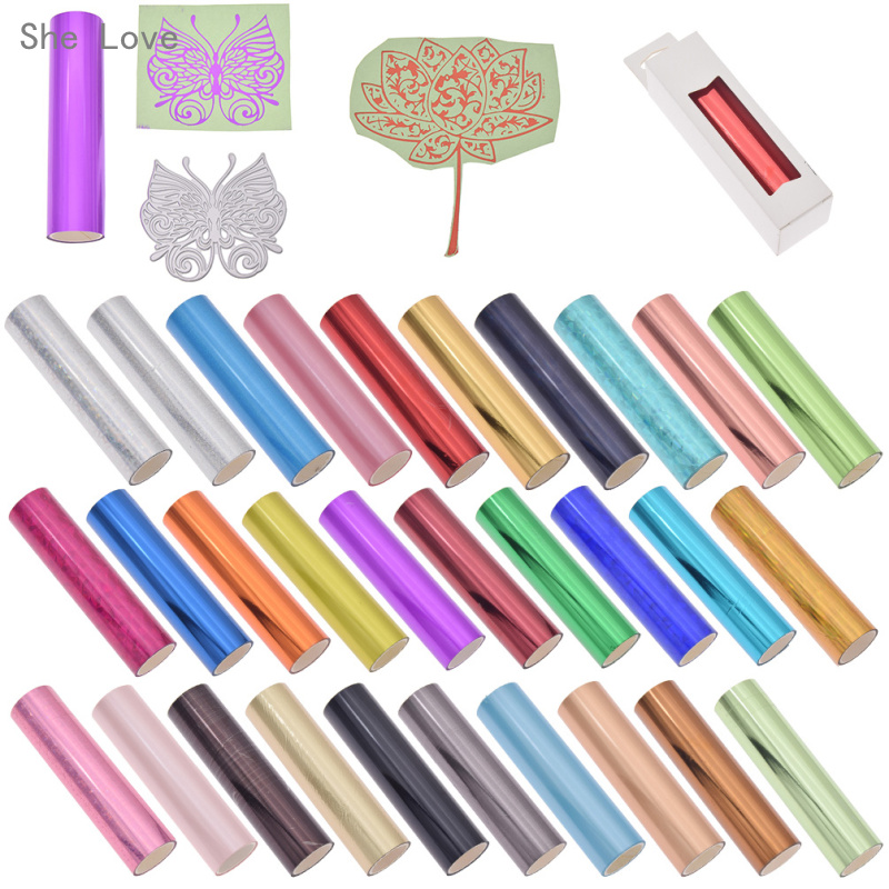 She Love 5M 1 Roll Hot Stamping Foil Paper Holographic Heat Transfer DIY Crafts