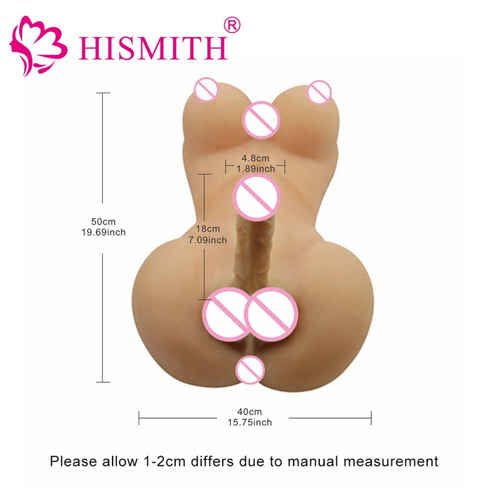 HISMITH Silicone Sex Dolls Lesbian Gay Adult sexy dolls with big breast and dildo Anal love dolls Ladyboy Sex Toys sex products