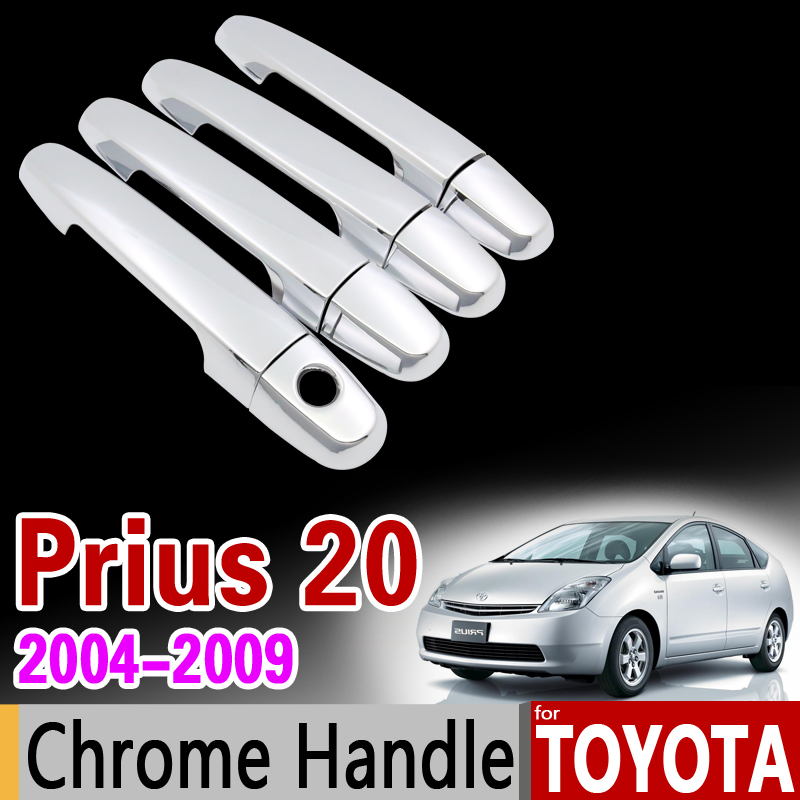 for Toyota Prius 20 2004 - 2009 Chrome Handle Cover Trim Set xw20 Touring 2005 2006 2007 2008 Accessories Stickers Car Styling special car trunk mats for toyota all models corolla camry rav4 auris prius yalis avensis 2014 accessories car styling auto