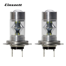 2pcs H7 LED Fog Light High Bright White LED HeadLight Bulb DC12V 12SMD 2835 12W DRL