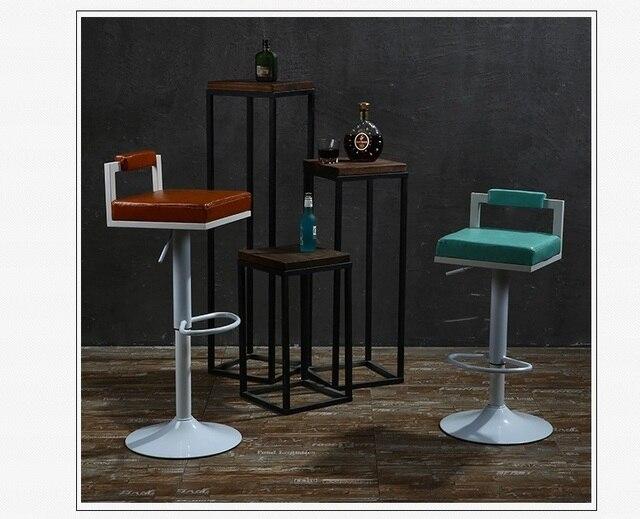 Caf Maison Chaise Bar Vert Violet Cuir PU Sige Tissu Livraison Gratuite Magasin De Meubles