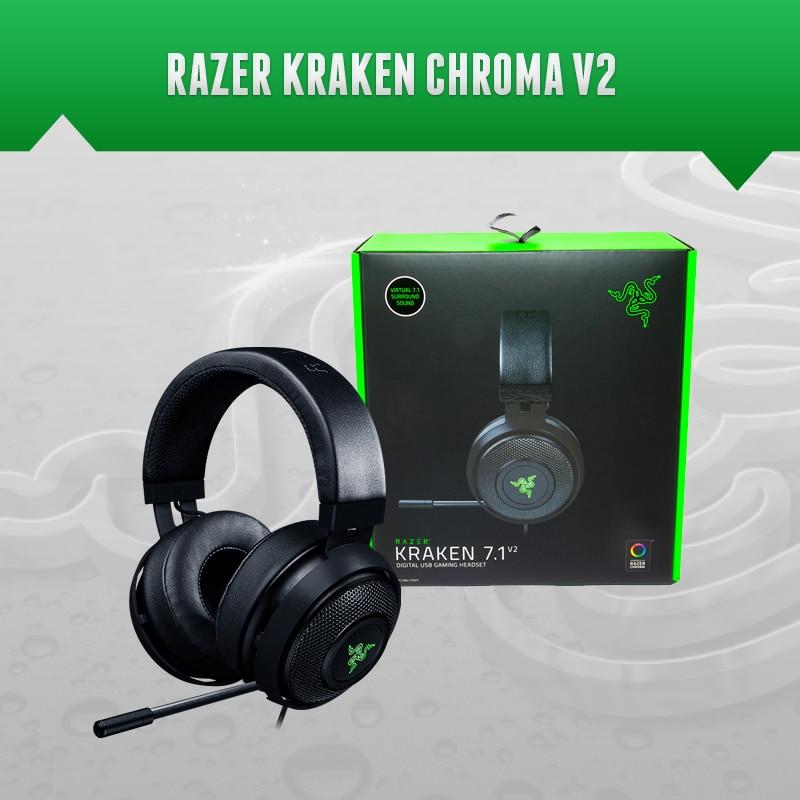 Razer Kraken TE  Kraken 7.1 V2 Gaming Headset  EXPERIENCE 7.1 SURROUND SOUND  Razer Synapse  Fast & Free Shipping.|Mice| |  - title=