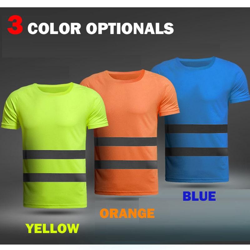 Camiseta fluorescente para trabajo de secado rápido y tambien para deportes al aire libre