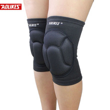 2015 Thickening Football Volleyball Extreme Sports knee pads brace support Protect Cycling Knee Protector Kneepad rodilleras