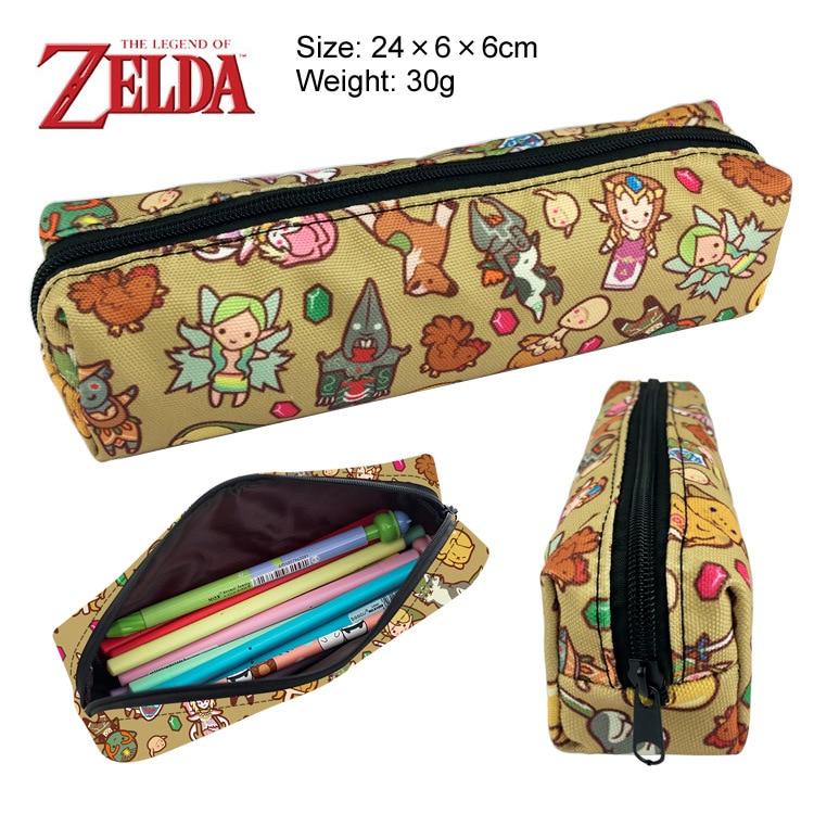 The Zelda Pencil Case Supplies Zipper Bag Purse Cosmetic Makeup Bags Handbag Anime