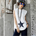 T Shirt Women Tank Tops Summer 2016 Harajuku Hip Hip O-neck Sleeveless Sexy Tops TEE White Black