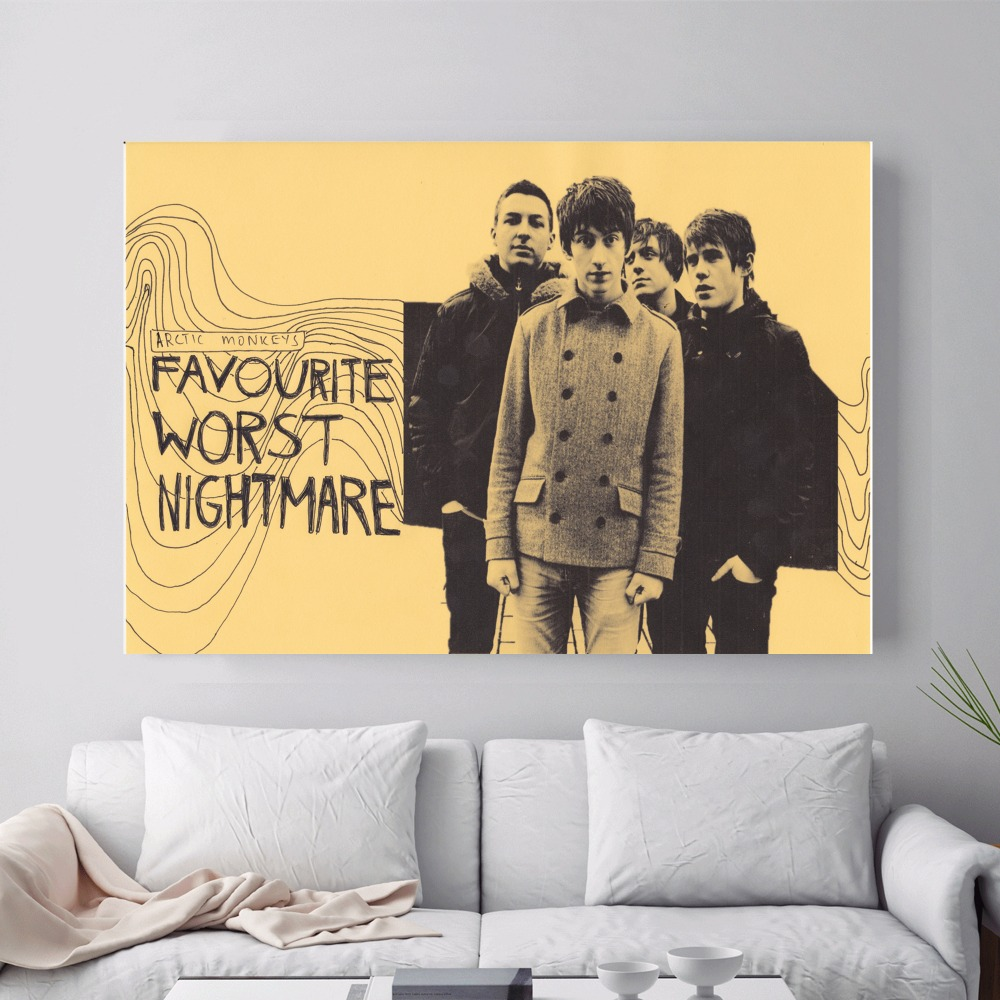 Arctic Monkeys Music Canvas Art Print Antistress Painting Poster ...