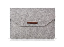 laptop bag Saar FM Slim Wool Felt For Macbook Cover For Mac book 11 13 14 15 17 inch with magic tape 1590610123E