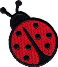 Custom embroidered Patches Iron On badge Ladybugs can be customized with your logo design factory direct OEM service