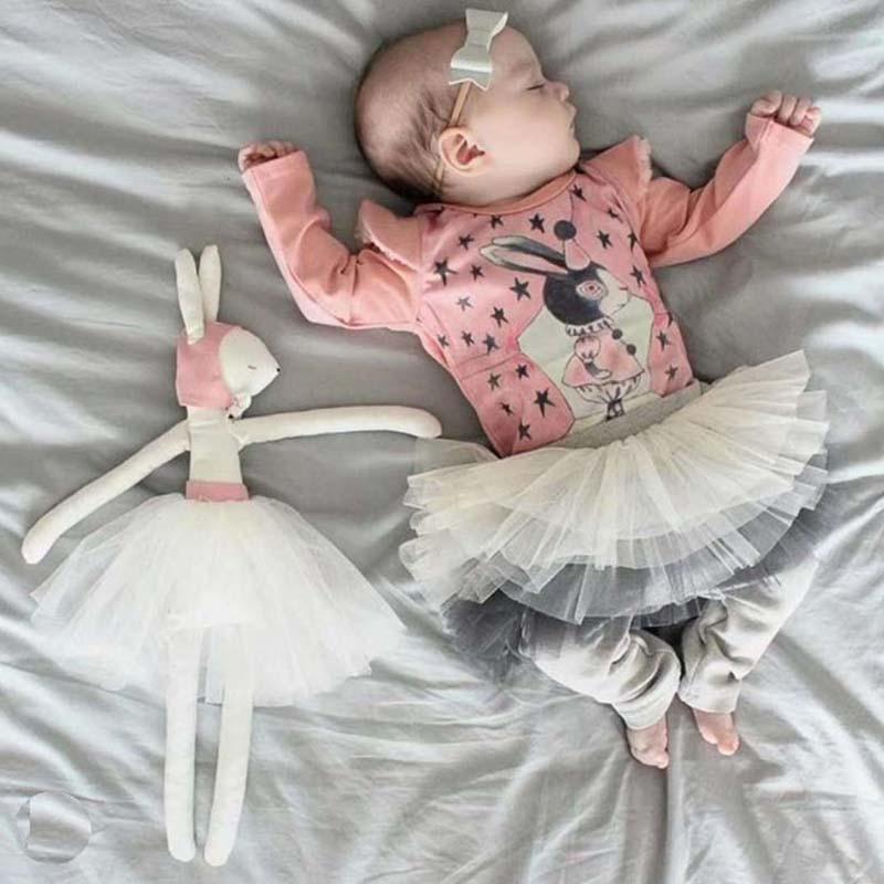Baby Girls Pants Cotton Leggings With TUTU Skirts Girls Trousers Kids Leggings Clothes Skirt-Leggings2