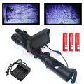 Hot Melhor ótica visão Caça Ao Ar Livre Tático digital Infrared night vision riflescope com Monitor de Bateria e Lanterna