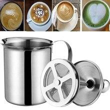 Milk-Foam-Maker Stainless-Steel Handmade Double-Mesh 800CC