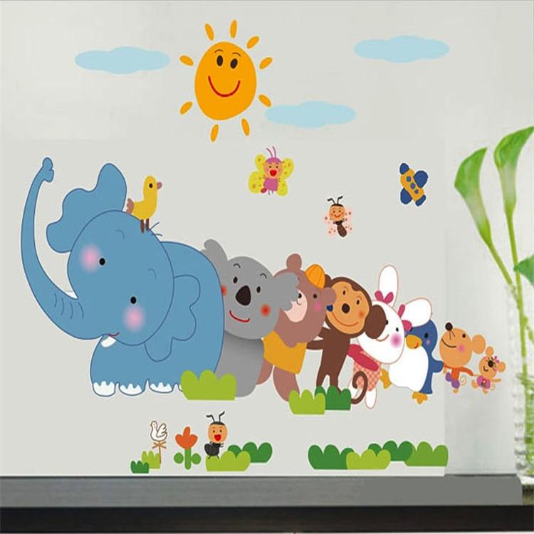favorite creative cartoon animal wall stickers decoration parlor
