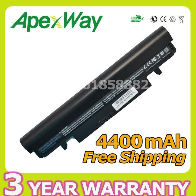 N150 apexway 4400 mah batería del ordenador portátil para samsung aa-pb2vc3b aa-pb2vc3w aa-pb2vc6b aa-aa-pb2vc6w n150 np-n148 np-n150 n148 nt-n148