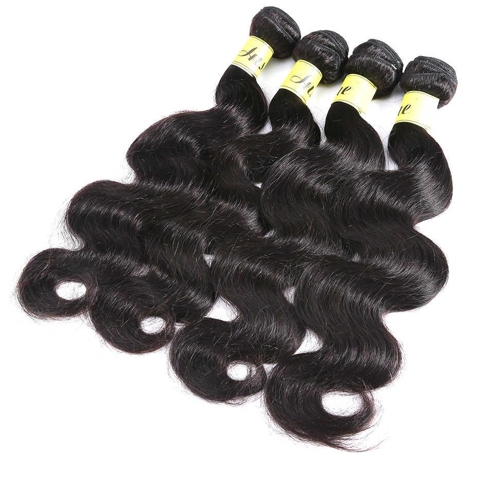 1 3 4 חבילות ברזילאי שיער וויבס 28 30 32 40 אינץ חבילות גוף גל 100% לא מעובד שיער טבעי צבע טבעי גלם שיער לא מעובד