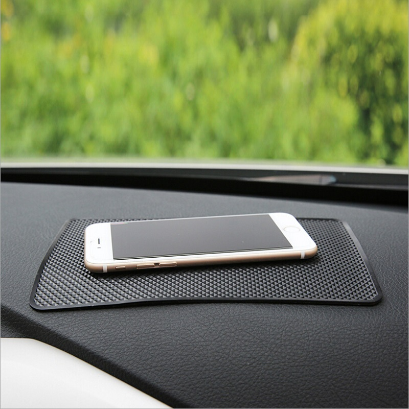 1PCS 20x13cmAnti-Slip Mat For Mobile Phone Mp4 Pad GPS Black Grid Car Sticky Perfume Seat Ornament  Car Anti-Slip Mat