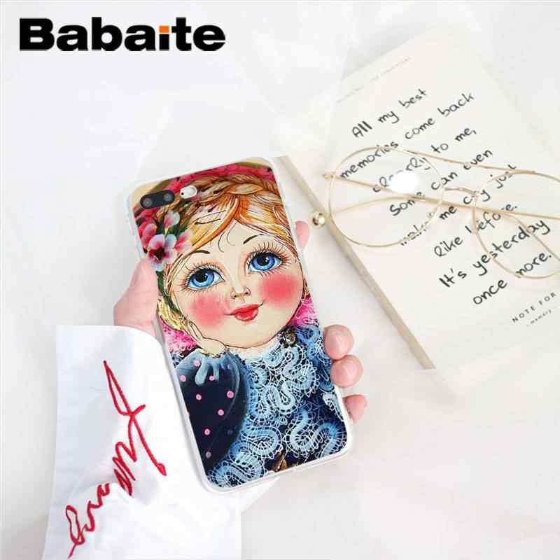 Babaite Russe matryoshka Poupées TPU Doux Silicone Téléphone étui pour iphone 8 7 6 6S Plus 5 5S SE XR X XS MAX 10 11 11pro 11promax