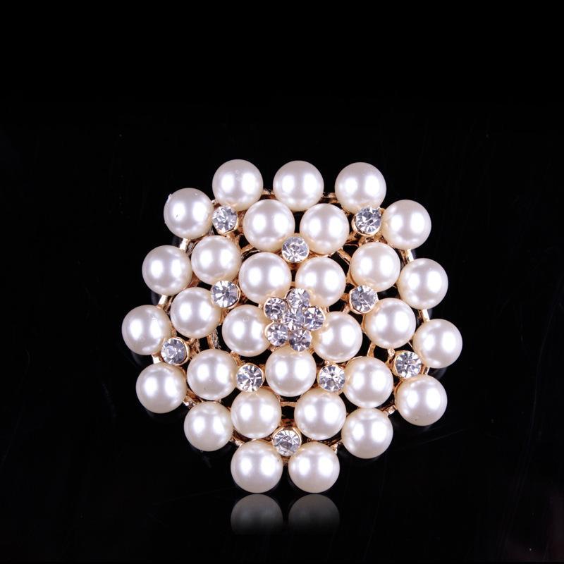 Elegant Bridal Set Heavy Gold Plated Diamante Crystal: Aliexpress.com : Buy MISANANRYNE Imitation Cream Pearl