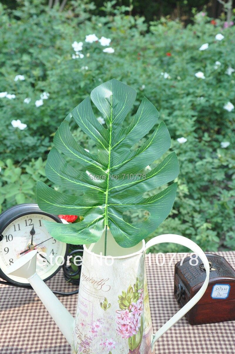 Buy 30pcs big monstera deliciosa green for Artificial plant decoration home