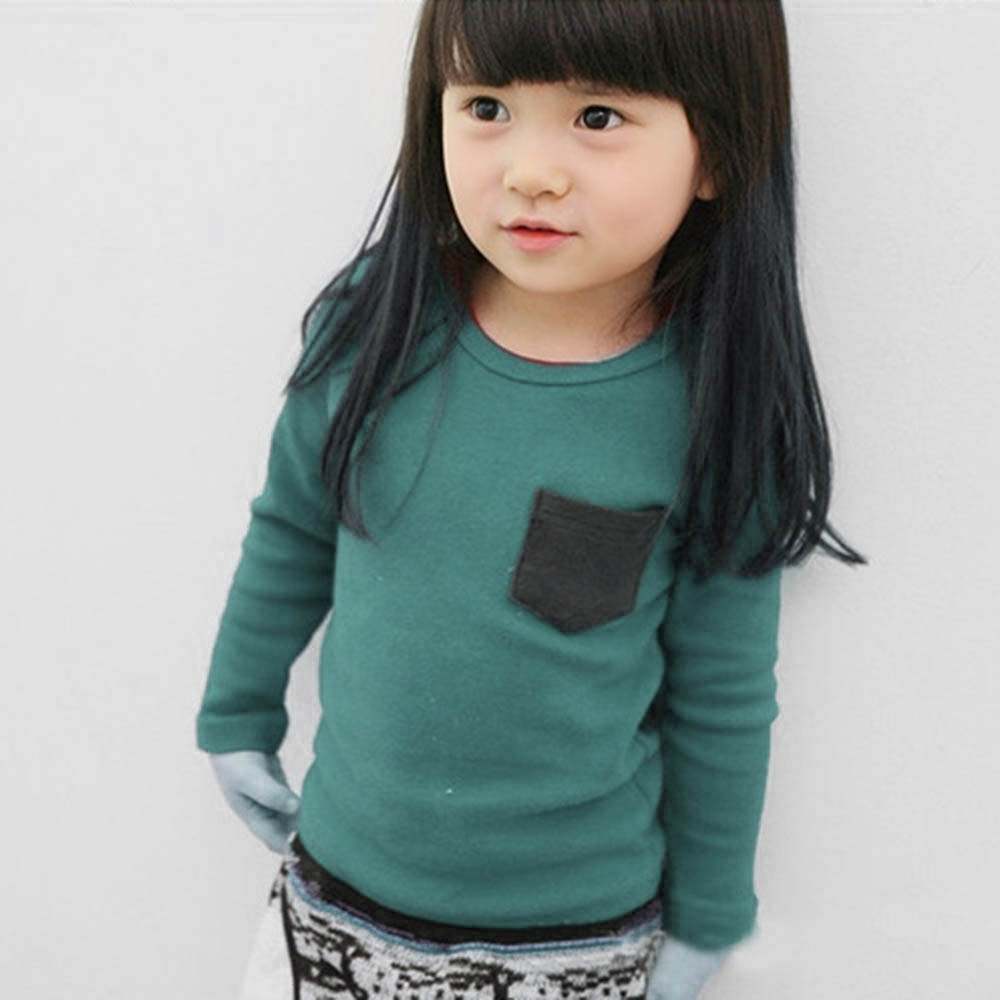 Autumn-Baby-Kids-Long-Sleeve-Crewneck-T-shirt-Pocket-Decor-Boy-Girl-Shirt-Clothes-2-7-Years-Hot-Sale-1