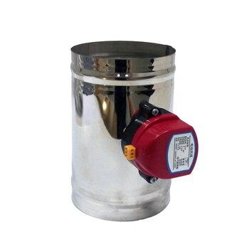 HVAC Â�テンレス鋼空気ダンパーバルブ電動エアーダクト電動バルブ 4 Â�ンチ換気パイプチェックバルブ 100 Ã�リメートル 220V 24V 12V