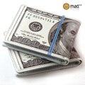 Милые двойные 100 USD доллар США бумажник кошелек новинка подарок подростков Студент мужской мужские женские монет чехол Искусственная кожа новый - фото