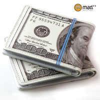 Lindo plegable 100 DOLLAR EE.UU. dólar carpeta dinero monedero regalo de la novedad adolescentes estudiante señora de las mujeres de la bolsa de la PU de cuero masculino de los hombres nueva