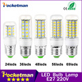 1PCS 220V Mini LED Lamp E27 SMD5730 LED Corn Light Lampada LED Bulb High Lumen 24/36/48/56/69/81/89LEDs Chandelier Lights