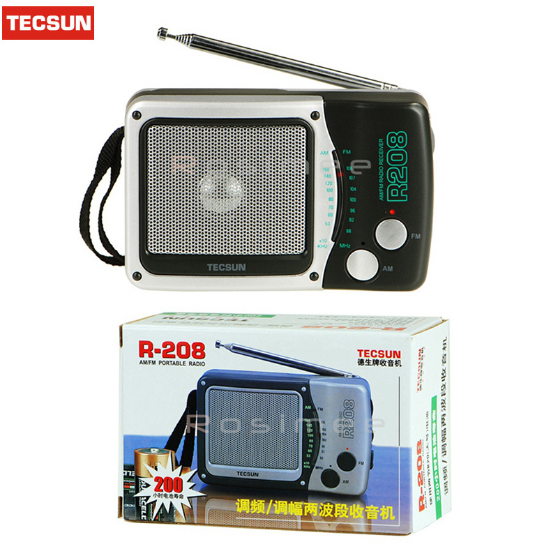 Hohe Qualität Tecsun R-208 Kleine Desktop Fm/am 2 Band Tragbare & Durable Radio R208 Radio Receiver Hohe Empfindlichkeit Radio ZuverläSsige Leistung Radio Unterhaltungselektronik