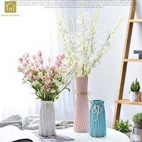European Ceramic Vase Modern Living Nordic Decoration Home Dried Flower Vases Artificial Flowers Chinese Porcelain Vase QAB118