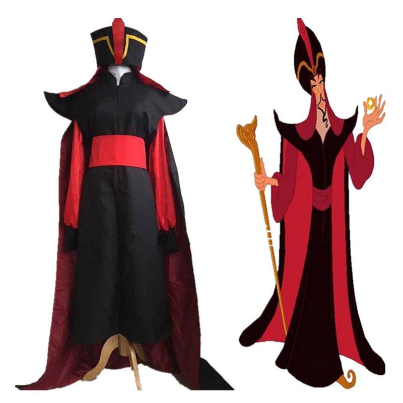 Volwassen herenlamp van Aladdin Jafar schurk Kostuum Outfit Aladdin - Carnavalskostuums - Foto 1