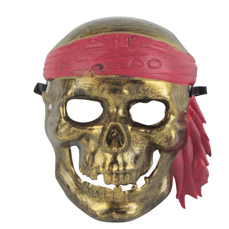 pcs halloween mscara de fantasma mscara de caveira pirata capito jack traje vestido de festa