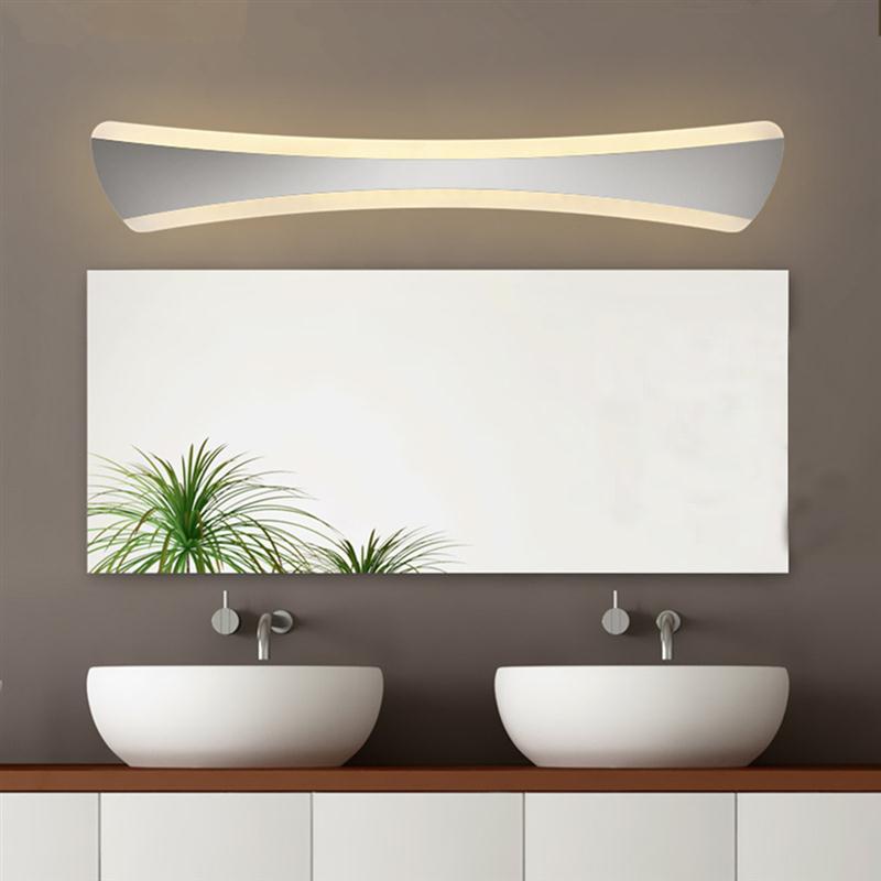 42 cm in acciaio inox bagno make up specchio applique da parete 14 w minimalista moden
