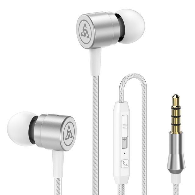 Original PTM D1 In-ear Earphone Zinc alloy Headset Bass Sound Earbuds Sport Earphones with Mic for phone Xiaomi iPhone Samsung