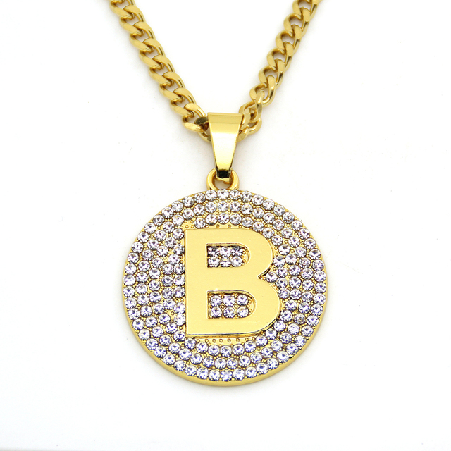 pendant plated vinader metallic alphabet product rose in normal jewelry lyst diamond b gold pink monica