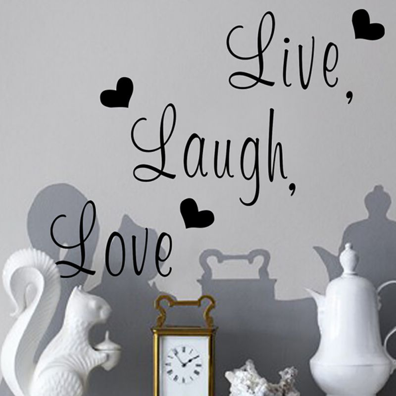 Diy Home Decoration Wall Decals Live Laugh Love Inspirational