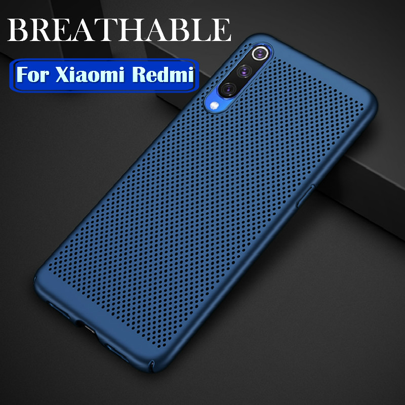 Breathable Heat Dissipation Phone Case For Xiaomi Mi 9 8 Mi A3 A2 Lite 9T Redmi K20 Note 7 6 5 Pro 7A 6A 5Plus Back Cover Case