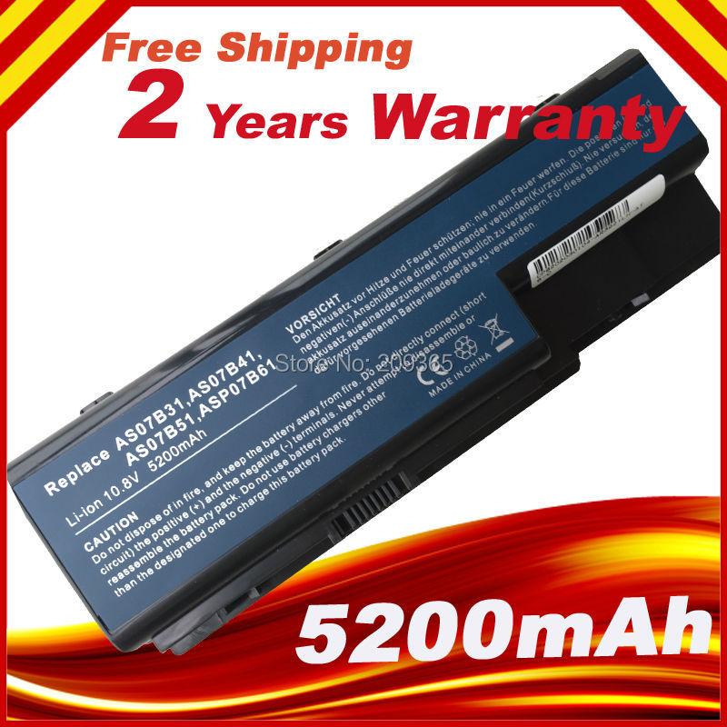 Batterie d'ordinateur portable Pour Acer Aspire 6920G 6930 7220 7530G 7540 7720G 7720Z 7730Z 7738 7740G 5300 5720G 5730 5739 5940