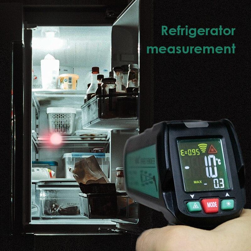 Image 5 - Бесконтактный термометр цифровой инфракрасный термометр  бесконтактный температурный пистолет лазерный ручной ИК темп пистолет  цветной ЖК дисплейПриборы для измерения температуры   -