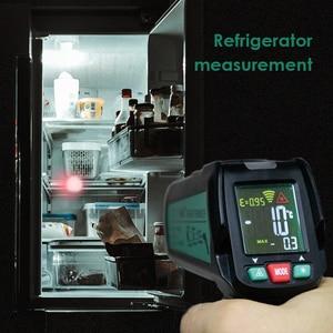 Image 5 - الرقمية الأشعة تحت الحمراء ميزان الحرارة عدم الاتصال مسدس حراري ليزر يده الأشعة تحت الحمراء درجة الحرارة بندقية شاشة إل سي دي ملونة عرض 50 580 ℃/ 50 400 ℃ إنذار