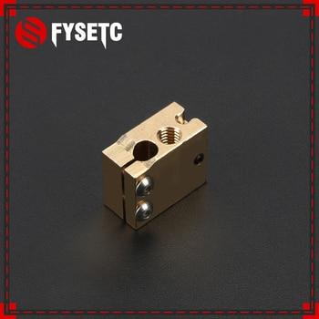 10pcs High Temperature H59 Copper Volcano Heater Block For E3D HOTEND Compatible PT100 Thermistor Cartridge Sensor V6 Hot