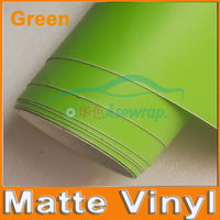 Free Shipping High Quality 30M Lot Green Matte Vinyl Wrap With Air Release Satin Matt Black
