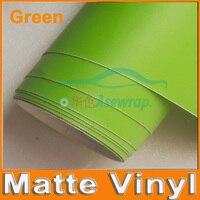 Free Shipping High Quality 30M Lot Green Matte Vinyl Wrap With Air Release Satin Matt Black