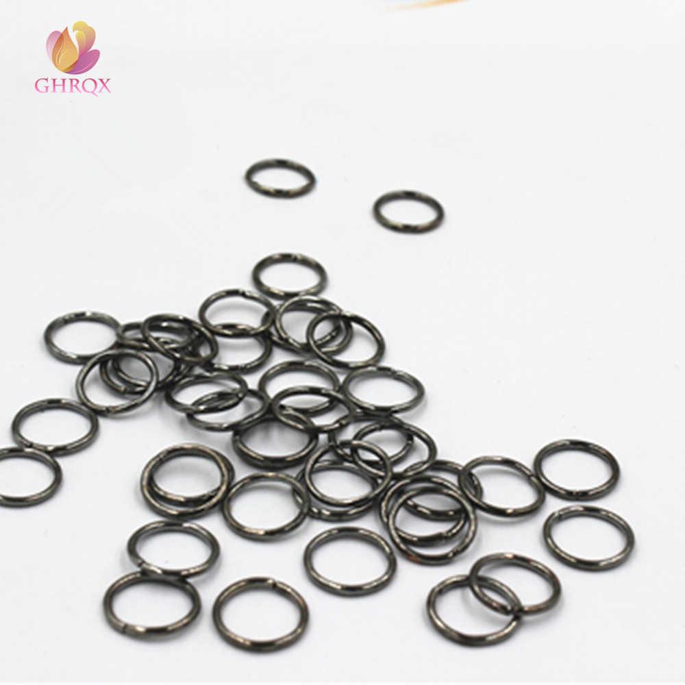 1,2*12 Gun Schwarz Jump Ringe & Split Ringe Schmuck Finding Fit Ohrring/Halskette/Armband, Der 100 stücke