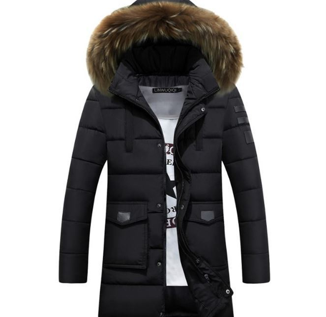 2018 Herren Winter Jacke Warme Mäntel Faux Pelz Haube Baumwolle Pad Medium Lange Warme Parkas Mann Oberbekleidung Plus Größe Streetwear M-3xl